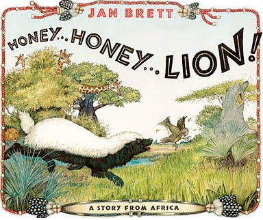 Cover Illustration from Honey Honey Lion by Jan Brett