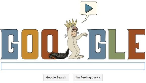 Maurice Sendak birthday doodle on Google (2)
