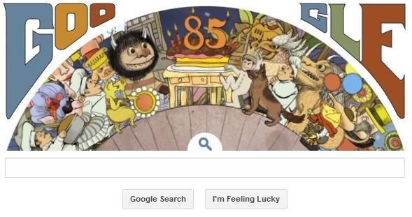 Maurice Sendak birthday doodle on Google - finale (2)